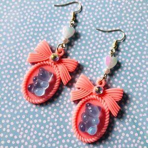 Pastel Gummy Bear Resin Kawaii Fairy Kei Earrings